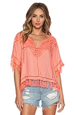 Molly Top en Corail