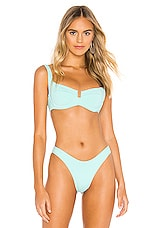 L*SPACE Camelia Top in Pacifica Blue