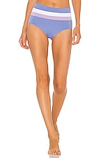 L*SPACE Portia Stripe Bottom in Peri Blue & White & Lilac