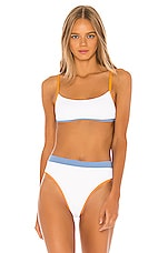 L*SPACE Gemma Top in White & Mango & Peri Blue