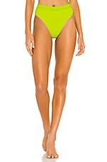 L*SPACE X REVOLVE Frenchi Bikini Bottom in Acid Green