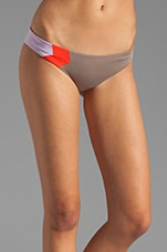 Colorblock Geo Hipster Bottom in Taupe