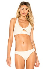 L*SPACE Tara Bikini Top in Cream