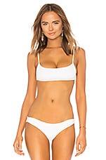 L*SPACE Piper Bikini Top in White