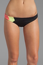 Color Blocked Geo Hipster Bottom in Black
