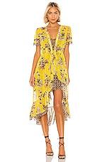 Le Superbe Safari Wrap Dress in Lemon Quartz Jungle