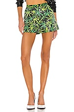 Le Superbe High End Short in Sative Shine, Black & Green
