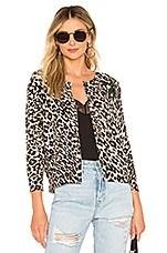Le Superbe Cobain Leopard Cashmere Cardigan in Sand