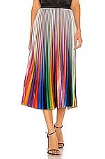 Le Superbe Rainbow Room Pleated Skirt in Rainbow Room