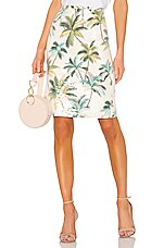 Le Superbe Hawaiian Shine Pencil Skirt in Palms