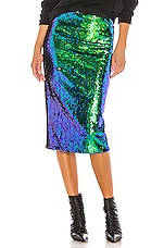 Le Superbe Liza Skirt in Charred Emerald