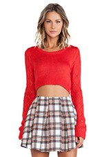 Crop Sweater in Red