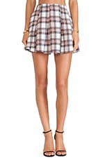 Mini Skirt in White Plaid