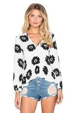 Sunflower Top en Noir & Blanc