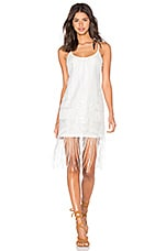 Lucy Paris x REVOLVE Lily Fringe Dress in White