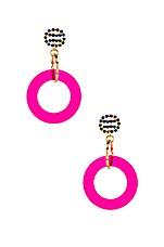 LARUICCI Interlocking Hoops in Pink