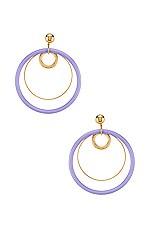 LARUICCI Multi Hoop Earrings in Purple & Gold