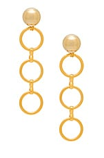 LARUICCI Linked Circle Earrings in Gold