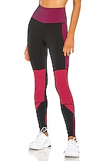 lukka lux Diag Legging in Cerise Mix