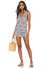 Luli Fama T Back Mini Dress in Multicolor