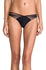 Verano de Rumba Brazilian Ruched Back Bottoms in Black