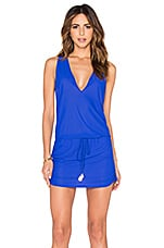 Luli Fama Cosita Buena T-Back Mini Dress in Electric Blue