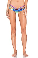 Luli Fama Tribal Beach Sandy Buns Bikini Bottom in Multicolor