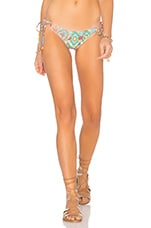 BAS DE MAILLOT DE BAIN SIREN DANCE CRYSTALLIZED WAVEY RUCHED BACK BRAZILIAN TIESIDE