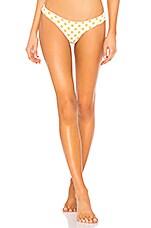 Luli Fama Itsy Bitsy Bikini Brazilian Bottom in Yellow