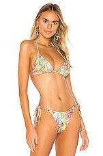 Luli Fama Seamless Triangle Bikini Top in Multicolor