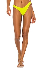 Luli Fama High Leg Bikini Bottom in Glowstick