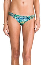 Perla del Caribe Ruched Back Brazilian Bottom in Multicolor