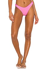 Luli Fama High Leg Bikini Bottom in Barbie Pink