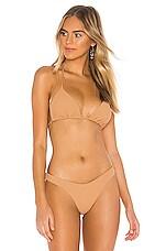 Luli Fama Seamless Triangle Bikini Top in Caramelo