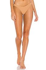 Luli Fama High Leg Bikini Bottom in Caramelo