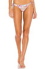 Luli Fama Reversible Loop Tie Side Bikini Bottom in Multicolor