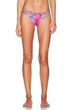 Amanecer Strappy Bikini Bottom in Multicolor