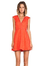 Last Chance Fit and Flare Mini Dress in Red