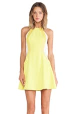 Light It Up Flare Dress in Yellow & Nude