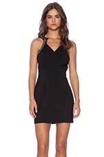 Daydream Beaded Mini Dress in Black & Black Beading
