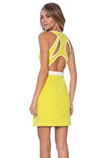 Aspire to Inspire Open Back Flare Dress in Yellow & White