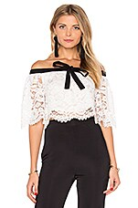 Lurelly Haltered Lace Crop Top in White