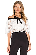 Haltered Lace Crop Top in White