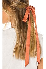 L. Erickson USA Long Tail Scrunchie in Silk Charmeuse Fireside