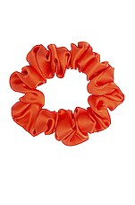 L. Erickson USA Small Pony Scrunchie in Silk Charmeuse Mandarin