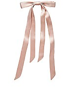 L. Erickson USA Long Tail Ribbon Long & Skinny Barrette in Silk Charmeuse Pale Peche