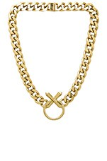 The Crystal Cross Necklace in Gold