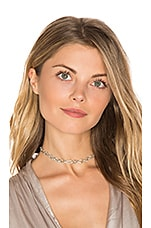 Luv AJ Pave Chain Link Choker in Silver Ox