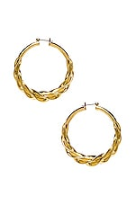 Luv AJ The Ribbon Hoops in Gold