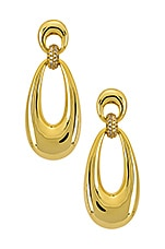 Luv AJ The Santos Statement Hoops in Gold
